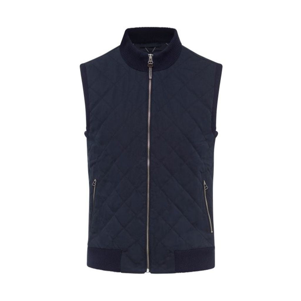 Hackett Water-repellent Quilted Cotton-blend Gilet