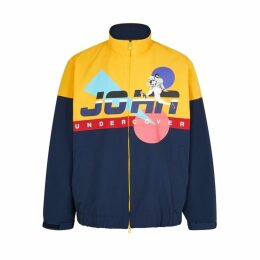 JohnUNDERCOVER Yellow Printed Shell Jacket