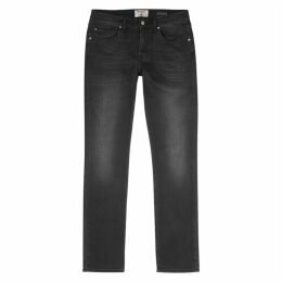 7 For All Mankind Slimmy Black Slim-leg Jeans