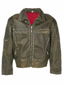 A.N.G.E.L.O. Vintage Cult 1980's studded biker jacket - Brown