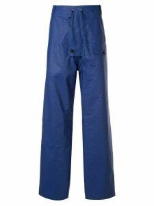 Walter Van Beirendonck Pre-Owned drawstring waist trousers - Blue