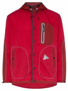 and Wander hooded waterproof jacket - Red