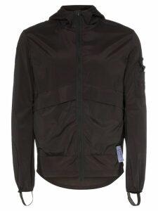 Satisfy Run Away print windbreaker jacket - Black