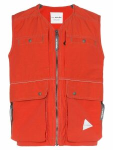 and Wander Laser sleeveless waistcoat - Red