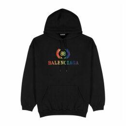 Balenciaga Black Logo Cotton Sweatshirt