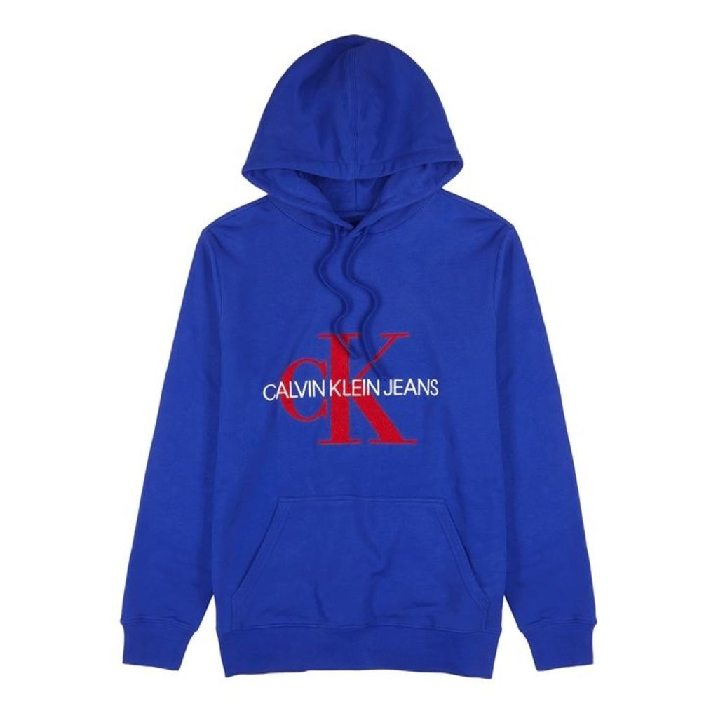 Calvin Klein Jeans Blue Logo Cotton Sweatshirt