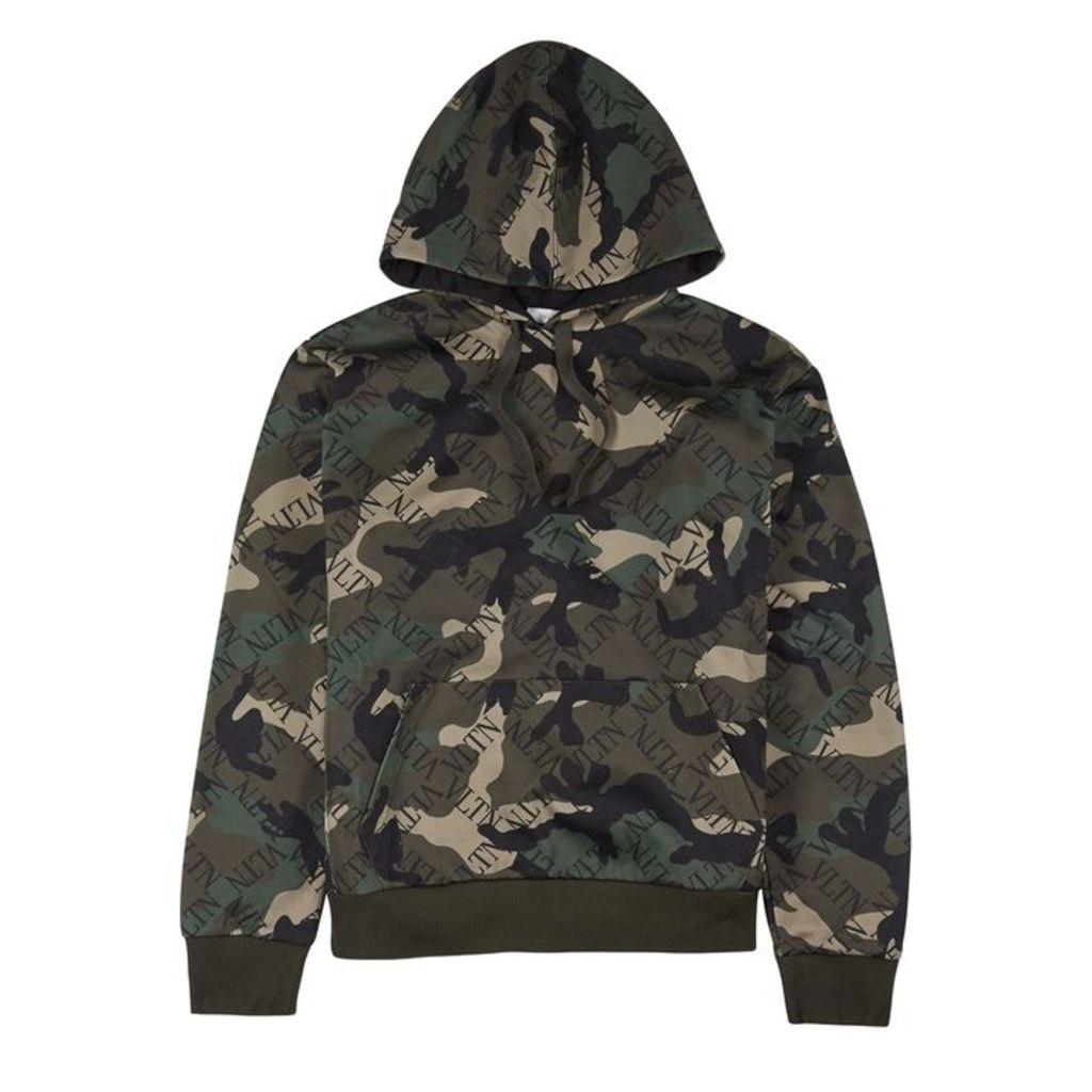 Valentino VLTN Grid Camouflage Jersey Sweatshirt