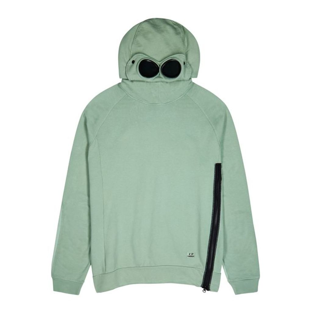 C.P. Company Goggle Sage Hooded Cotton Sweatshirt