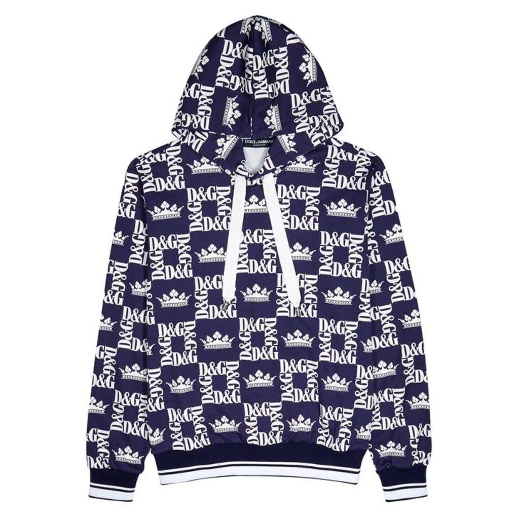 Dolce & Gabbana Logo-print Hooded Cotton Sweatshirt