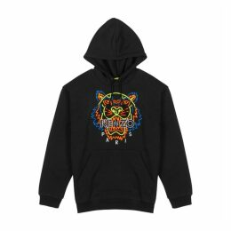 Kenzo Black Tiger-embroidered Cotton Sweatshirt