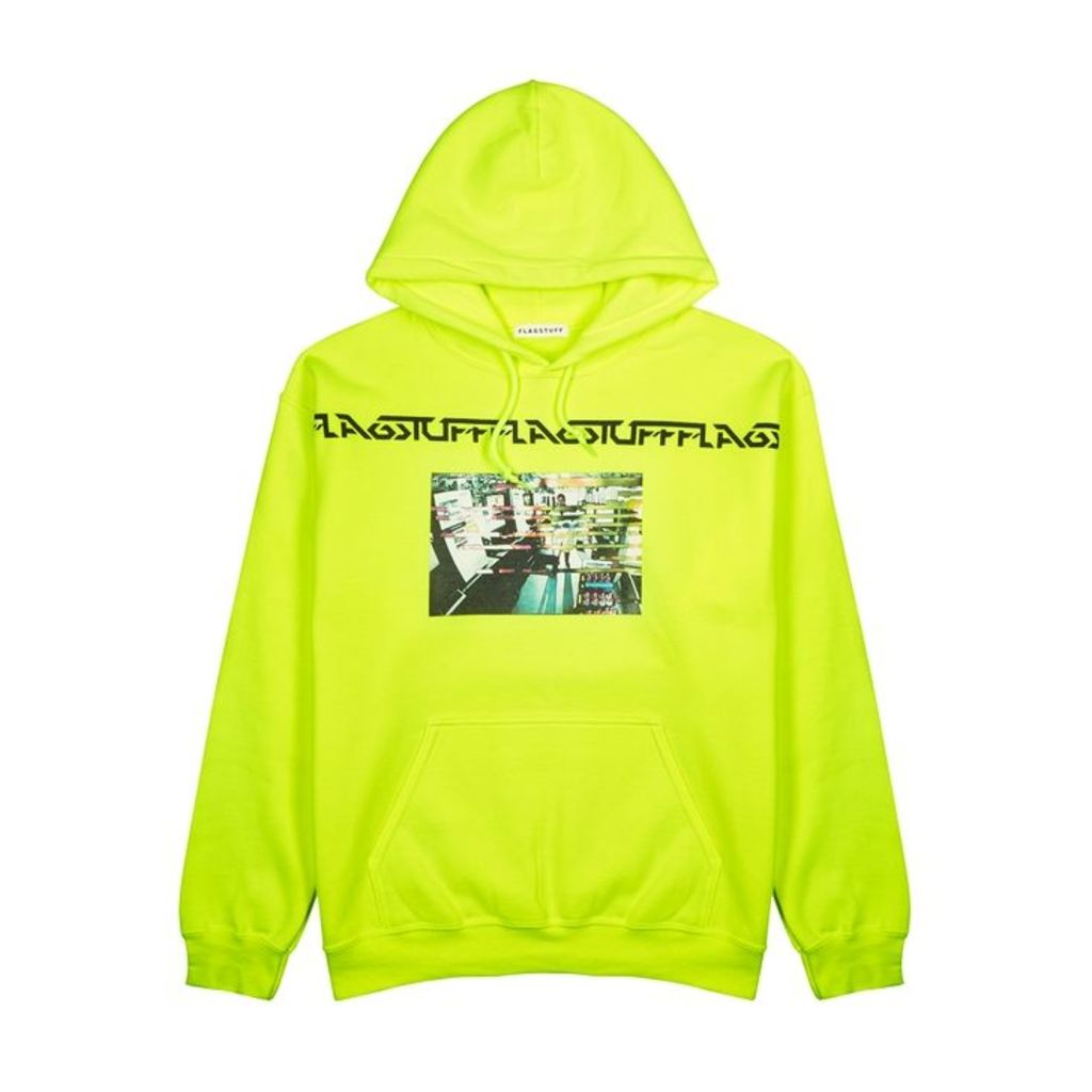 Flagstuff Neon Yellow Cotton-blend Sweatshirt