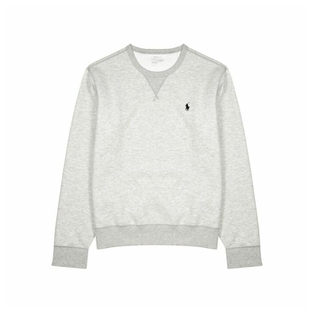 Polo Ralph Lauren Performance Grey Mélange Jersey Sweatshirt