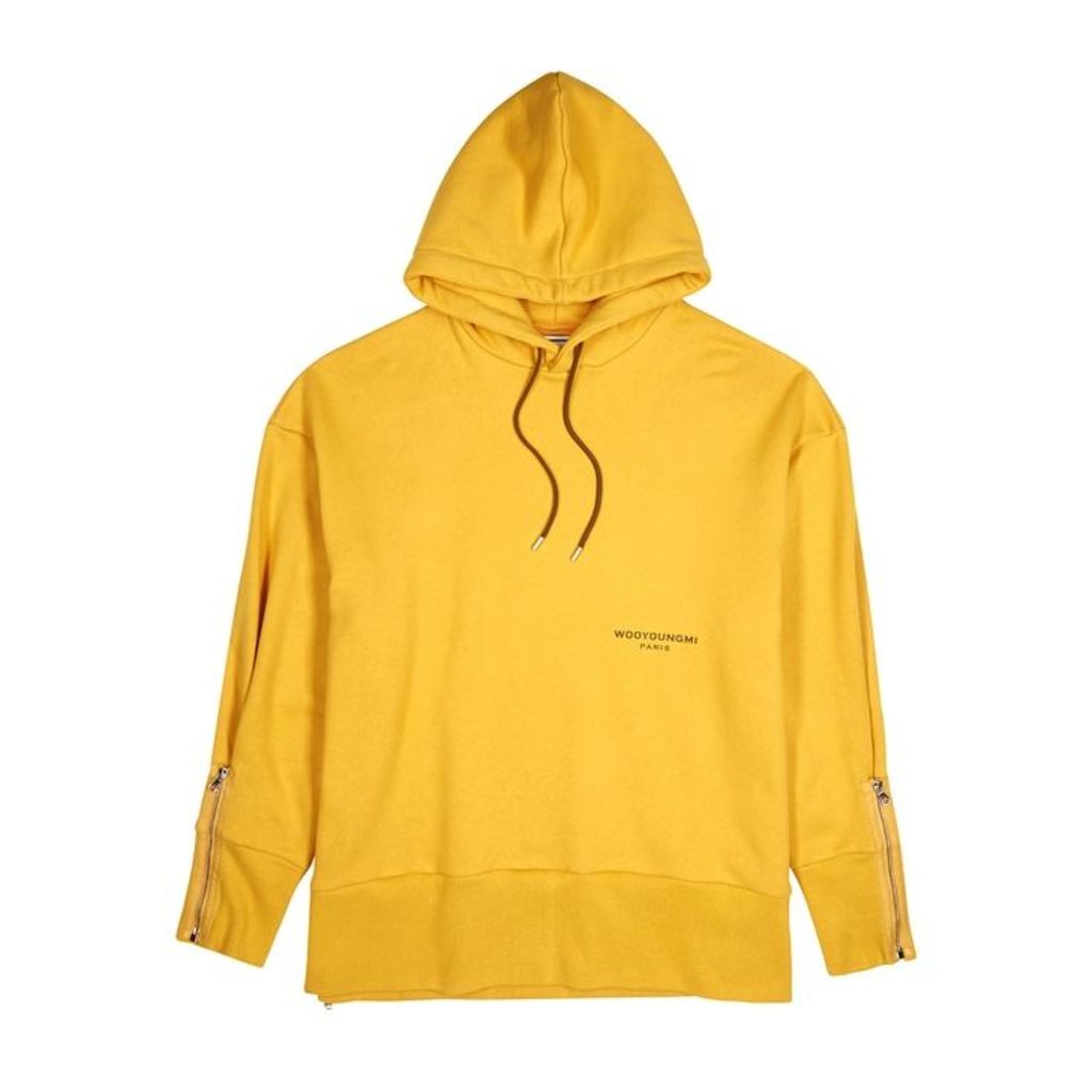 Wooyoungmi Mustard Hooded Cotton Sweatshirt
