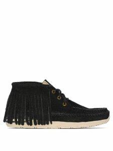Visvim Voyageur suede moccasin boots - Black