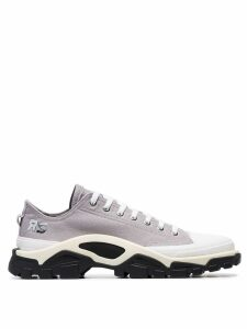 adidas by Raf Simons Grey Detroit Runner contrast sole low-top cotton