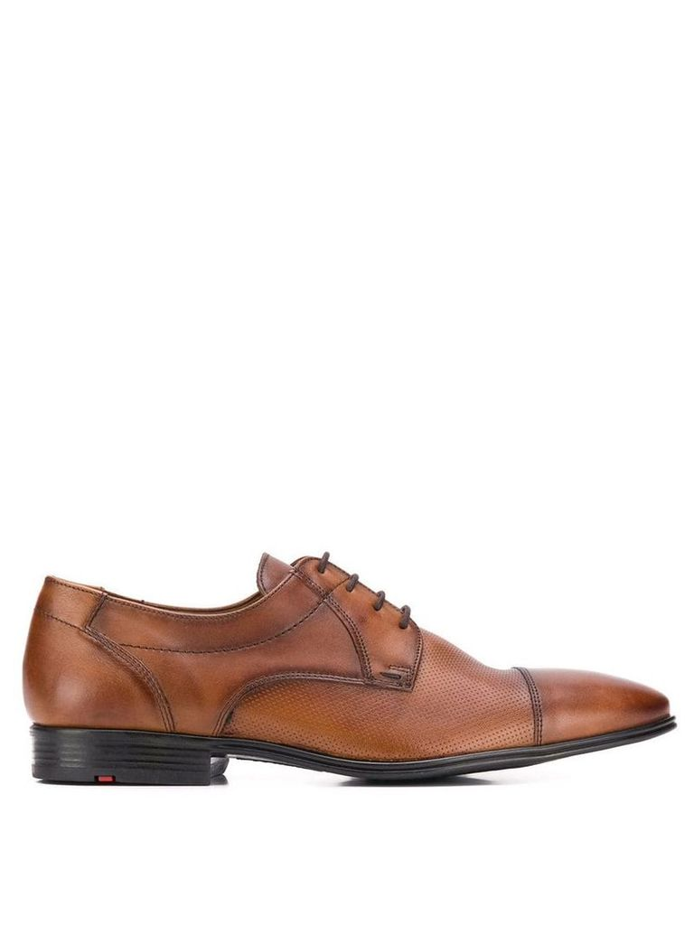 Lloyd perforated lace-up derby shoes - Brown
