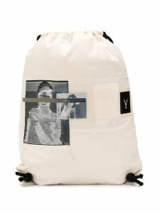 Rick Owens DRKSHDW photographic print backpack - White