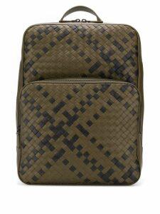 Bottega Veneta Double Brick intrecciato backpack - Green
