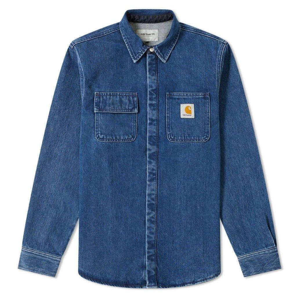 Carhartt Salinac Shirt Jacket Blue Stone Washed