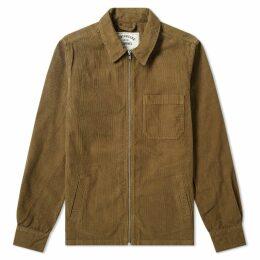 Portuguese Flannel Fecho Corduroy Zip Shirt Jacket Olive