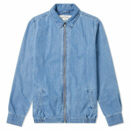 Portuguese Flannel Zip Denim Shirt Jacket Denim