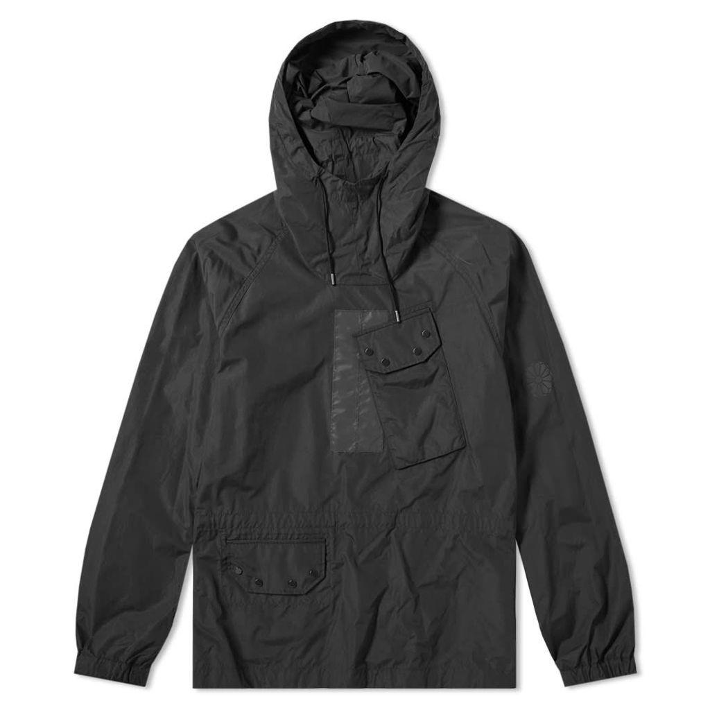 Ten C Mistral Popover Hooded Jacket Black