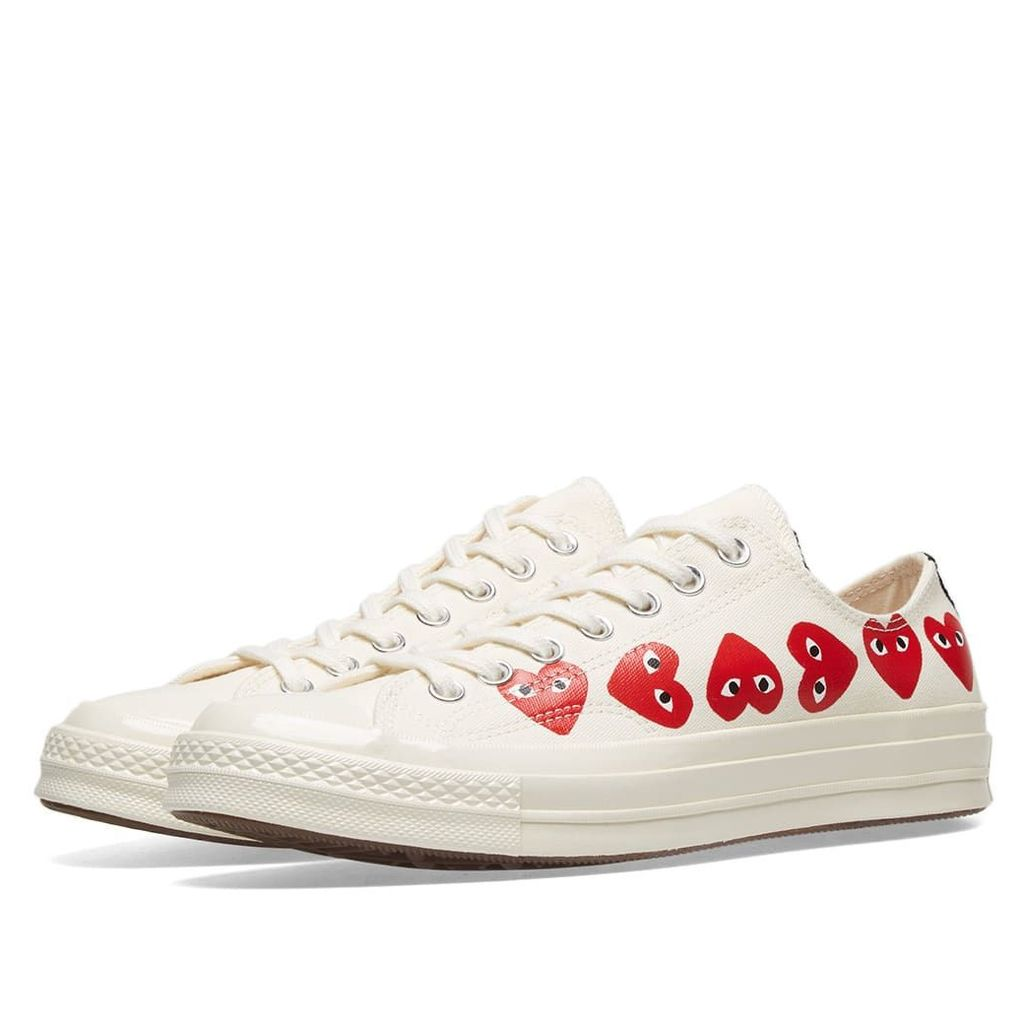 Comme des Garcons Play x Converse Chuck Taylor Multi Heart 1970s Ox Off White