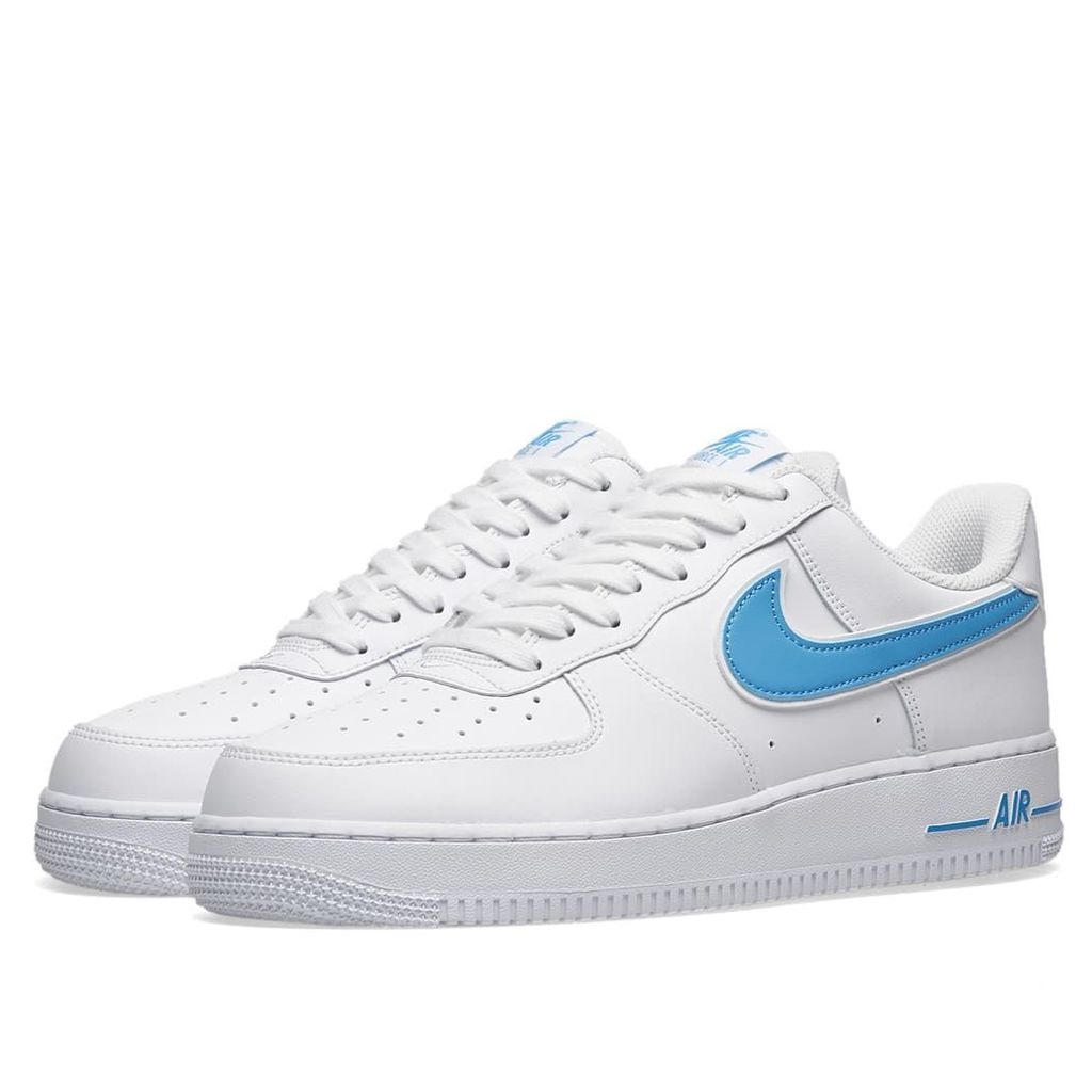 Nike Air Force 1 '07 3 White & University Blue