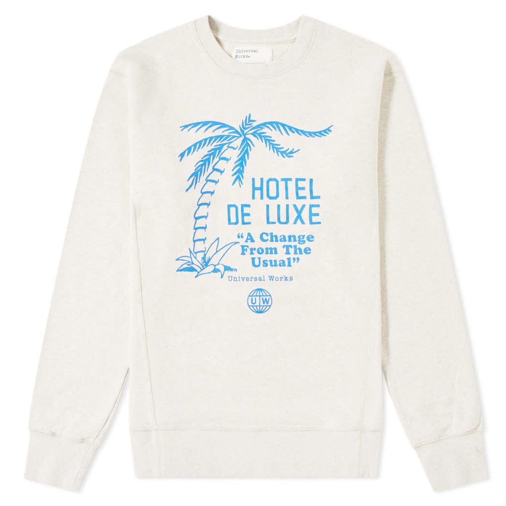 Universal Works Palm Deluxe Crew Sweat Sand Marl