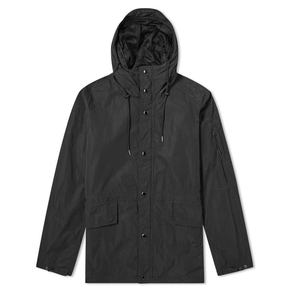 C.P. Company Memri Microfiber Nylon Hooded Lens Arm Jacket Black