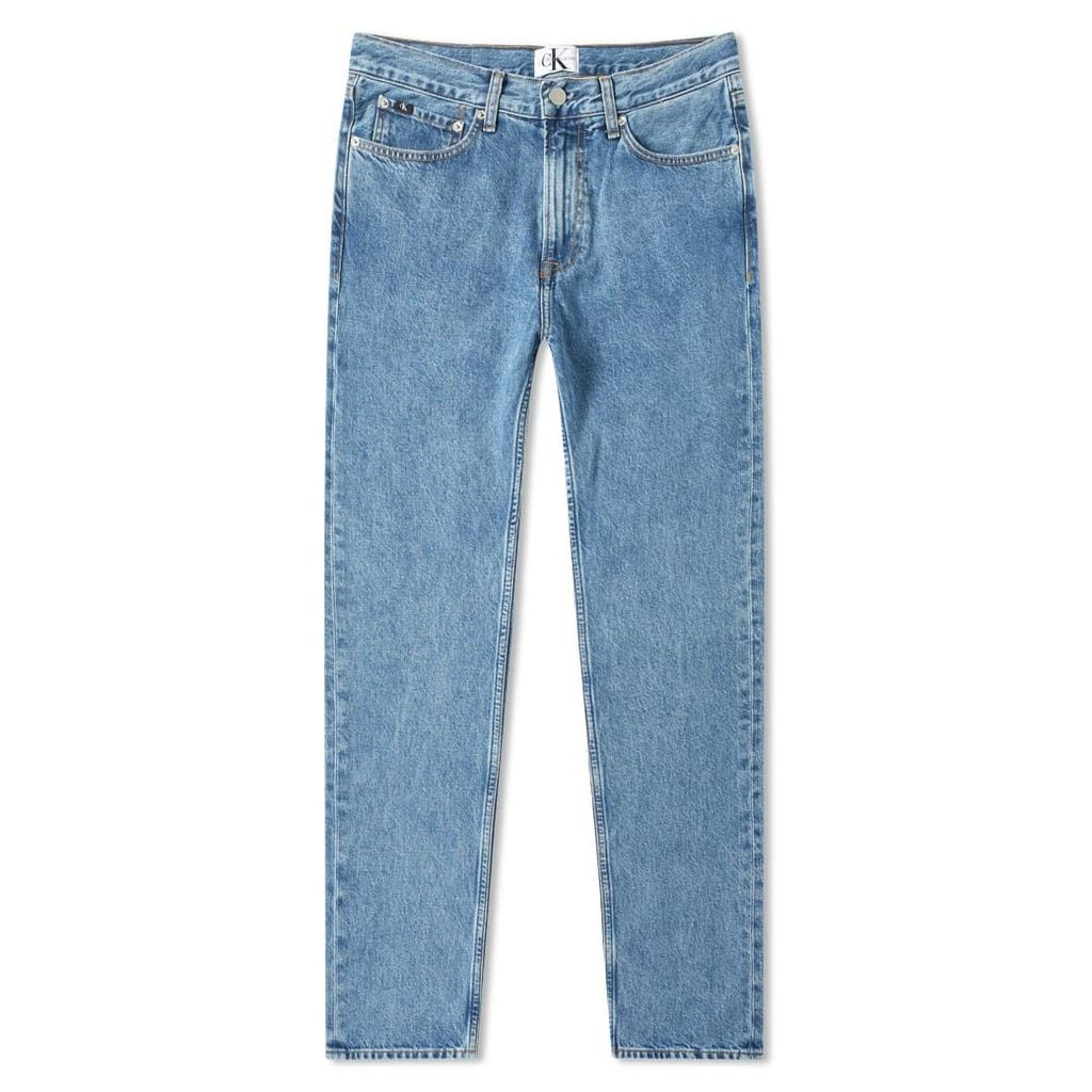 Calvin Klein 035 Straight Fit Jean Iconic Mid Stone