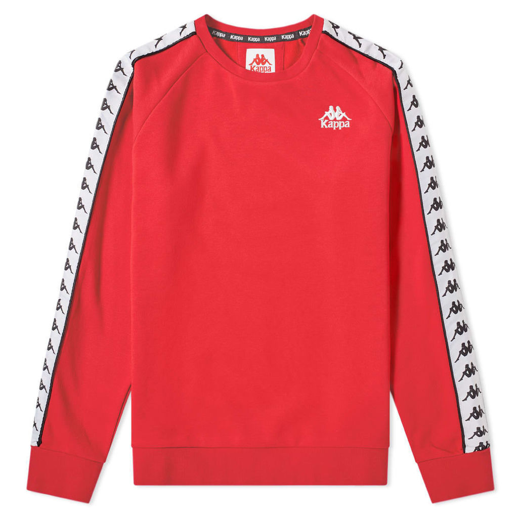 Kappa Taped Arbir Crew Sweat Red, Black & White
