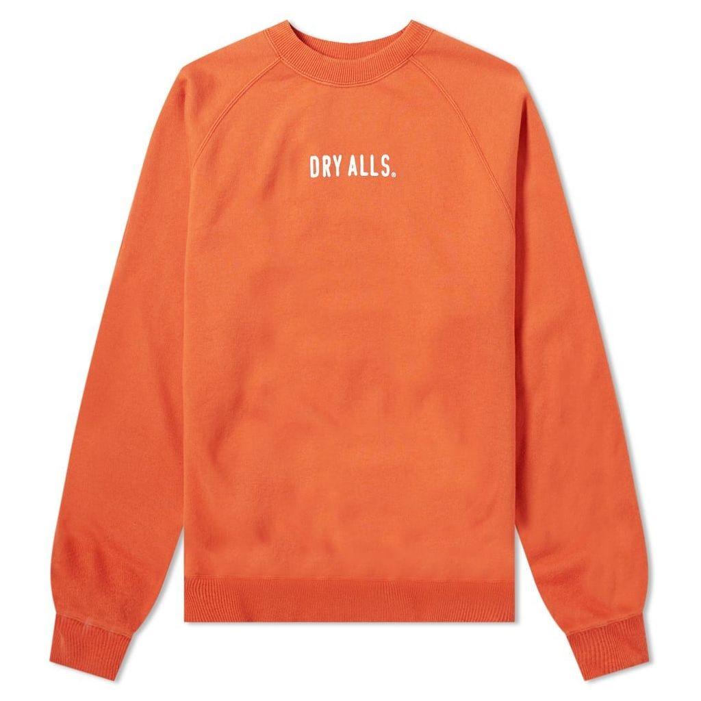 Human Made Logo Raglan Sweat Orange