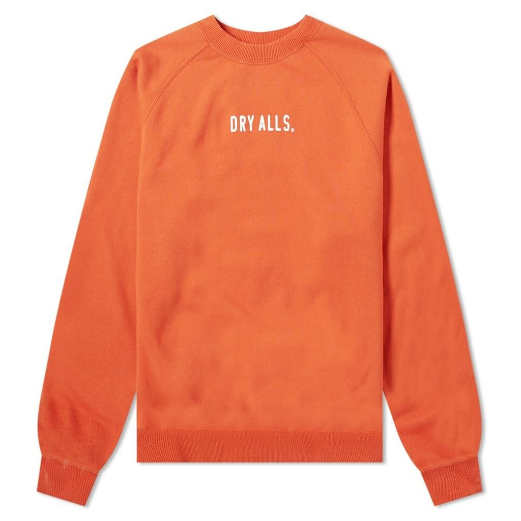 Human Made Logo Raglan Sweat Orange