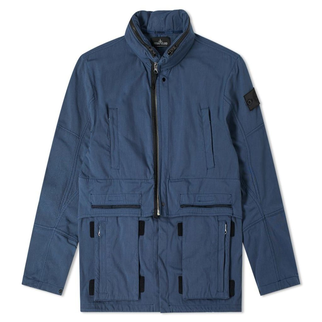 Stone Island Shadow Project Hollow Core Concealed Hood Jacket Blue