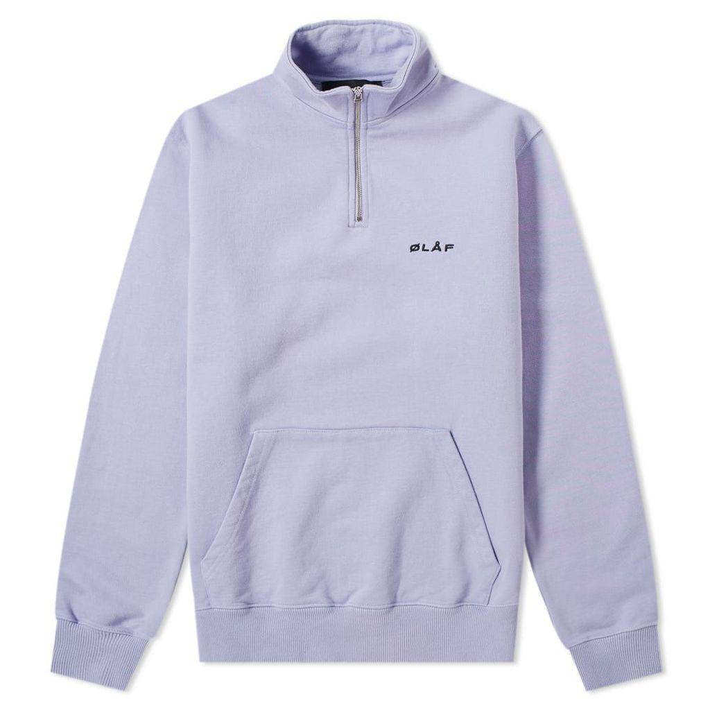 Olaf Hussein oLÅF Zip Mock Sweat Purple