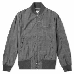 Engineered Garments Aviator Checked Wool Jacket Grey