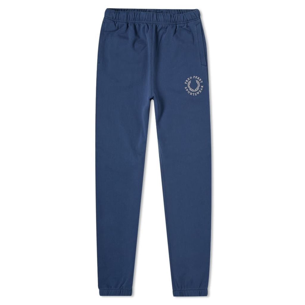 Fred Perry Embroidered Logo Sweat Pant Service Blue