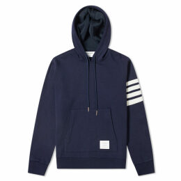 Thom Browne Shell Back Cashmere Pullover Hoody Navy