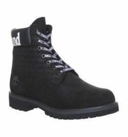 Timberland Logo 6 Inch Boot BLACK,Black,Tan