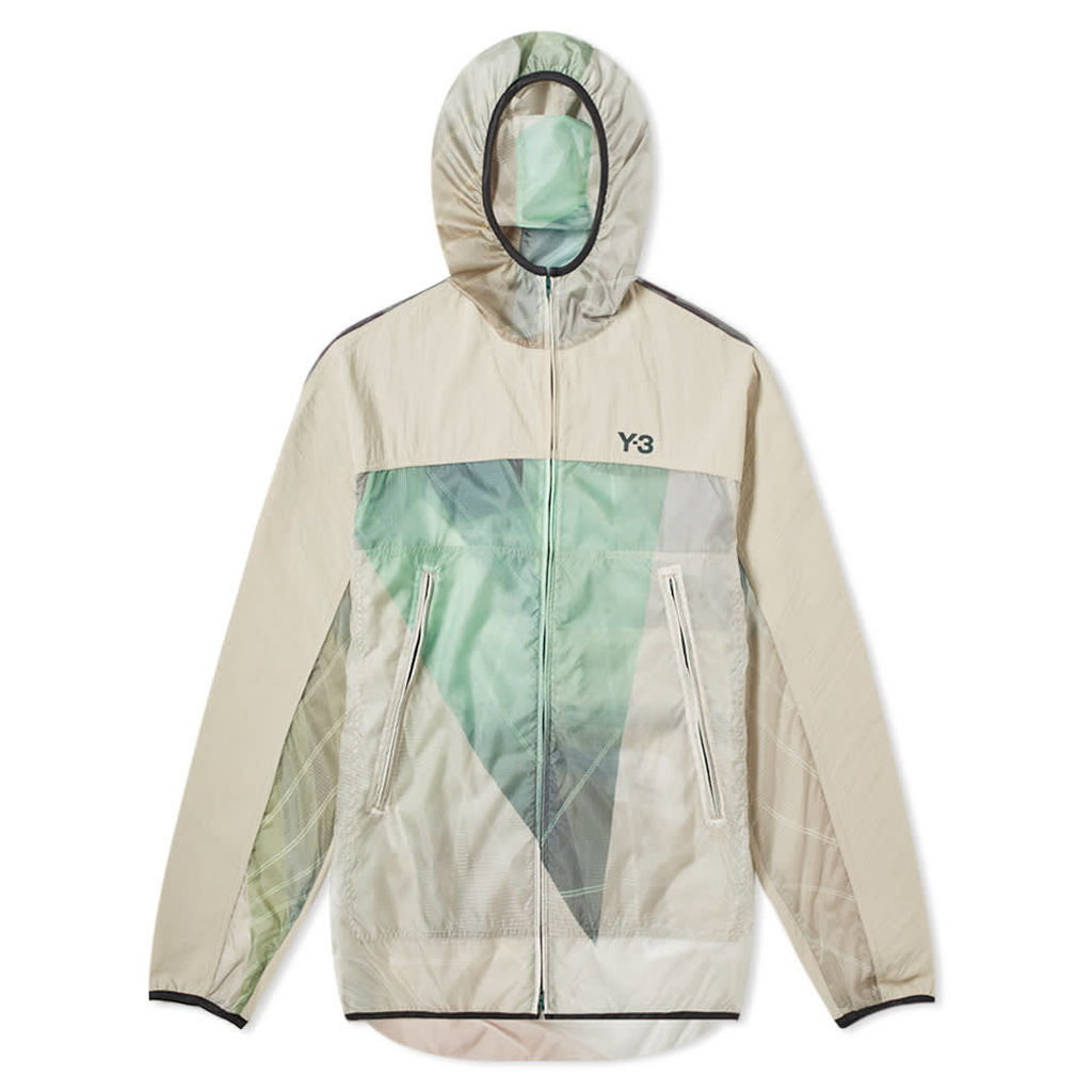 Y-3 Packable Print Jacket Sail & Champagne