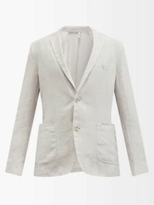 Snow Peak - Zip Up Panelled Hooded Sweatshirt - Mens - Grey
