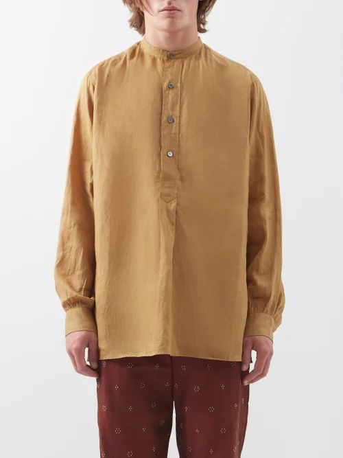 Gramicci - Belted Cotton Twill Trousers - Mens - Black