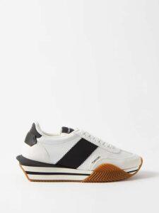 Burberry - Leopard-print Mini Cross-body Backpack - Mens - Green Multi