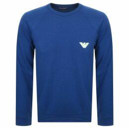 Emporio Armani Crew Neck Logo Sweatshirt Blue