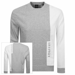 Armani Exchange Crew Neck Logo Sweatshirt Grey
