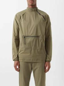 Gucci - Logo Tape Cotton Hooded Sweatshirt - Mens - Blue