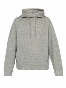 Raey - Hooded Cashmere Blend Sweatshirt - Mens - Grey