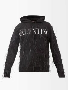 Wales Bonner - Panelled Technical Hooded Jacket - Mens - Black Multi
