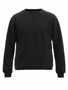 Amiri - Star Logo Embroidered Cotton Hooded Sweatshirt - Mens - White Black